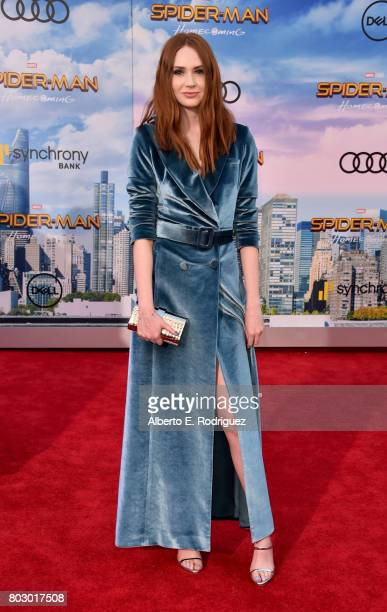 Karen Gillan attends the premiere of Columbia Pictures' SpiderMan Homecoming at TCL Chinese Theatre on June 28 2017 in Hollywood California