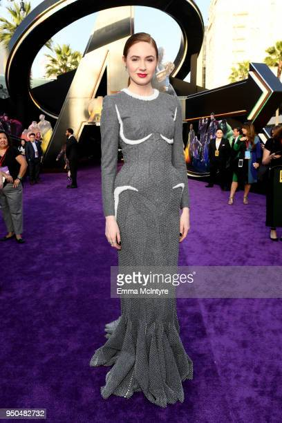 Karen Gillan attends the premiere of Disney and Marvel's 'Avengers Infinity War' on April 23 2018 in Los Angeles California