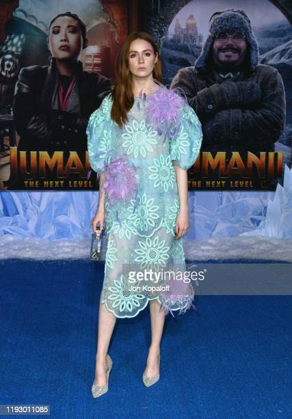 Karen Gillan attends the premiere of Sony Pictures' Jumanji The Next Level at TCL Chinese Theatre on December 09 2019 in Hollywood California