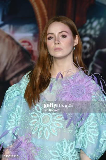 """Karen Gillan attends the premiere of Sony Pictures' """"Jumanji: The Next Level"""" at TCL Chinese Theatre on December 09, 2019 in Hollywood, California."""