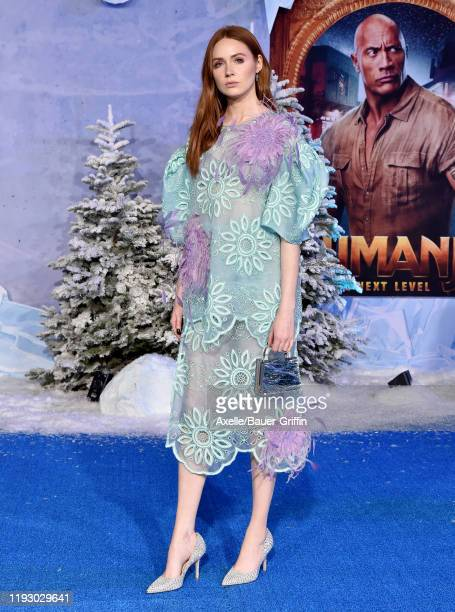"""Karen Gillan attends the premiere of Sony Pictures' """"Jumanji: The Next Level"""" on December 09, 2019 in Hollywood, California."""