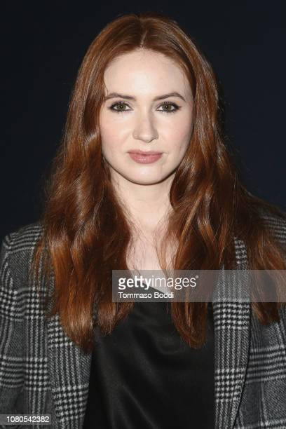 Karen Gillan attends the Premiere Of The Orchard's The Unicorn held at ArcLight Hollywood on January 10 2019 in Hollywood California