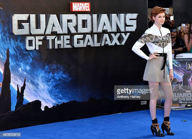Karen Gillan attends the UK Premiere of Guardians of the Galaxy at Empire Leicester Square on July 24 2014 in London England