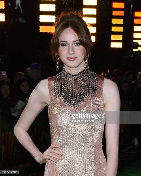 Karen Gillan attends the UK Premiere of 'Jumanji Welcome To The Jungle' at Vue West End on December 7 2017 in London England