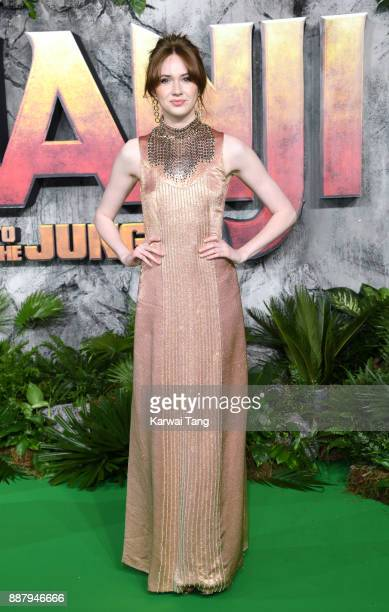 Karen Gillan attends the UK premiere of Jumanji Welcome To The Jungle at Vue West End on December 7 2017 in London England