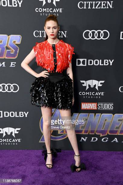 Karen Gillan attends the world premiere of Walt Disney Studios Motion Pictures Avengers Endgame at the Los Angeles Convention Center on April 22 2019...