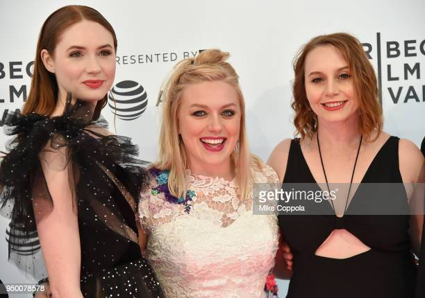Karen Gillan Rachel Jackson and Mali Elfman attend a screening of 'The Party's Just Beginning' during the 2018 Tribeca Film Festival at SVA Theatre...