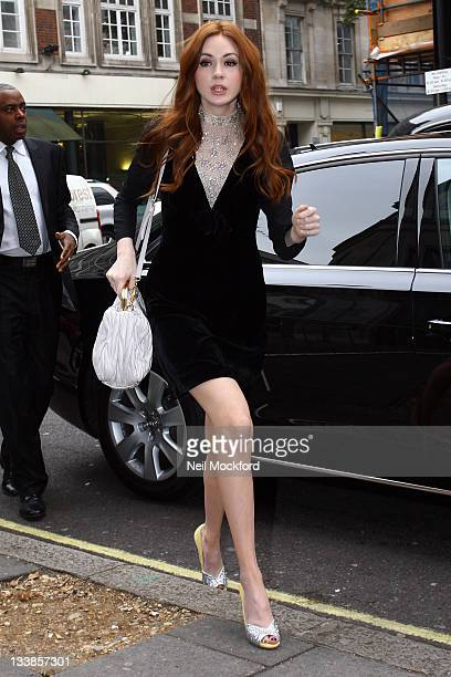 Karen Gillan seen at BBC Radio One on November 21 2011 in London England