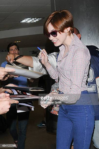 Karen Gillan seen at LAX on August 24 2014 in Los Angeles California
