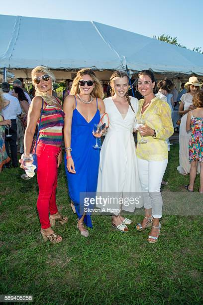 Karen Goerl Bajra Kingsley Sylvia Channing and Jackie Deangelis attend the 10th Annual Get Wild Summer Benefit on August 13 2016 in Bridgehampton New...