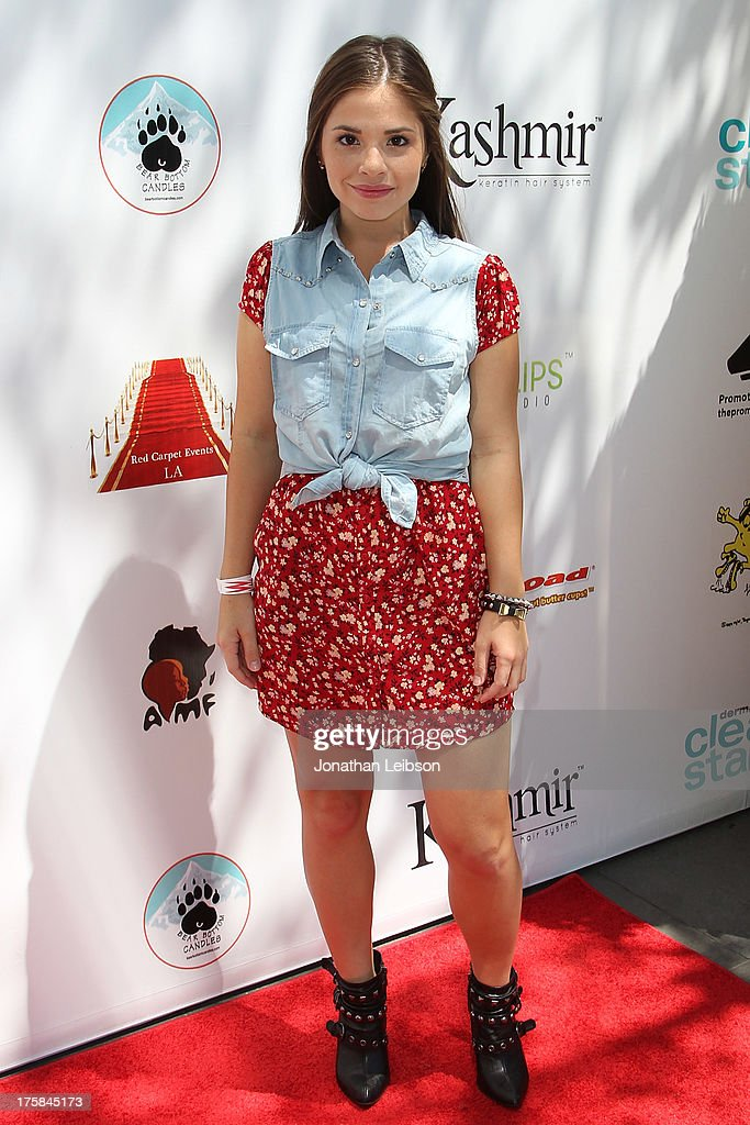Karen Gonzalez attends the Red Carpet Events LA Teen Choice Style Lounge on August 8, 2013 in Beverly Hills, California.