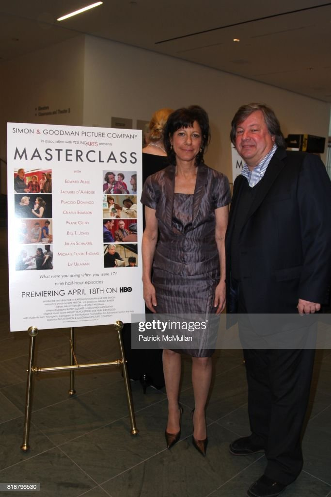 Karen Goodman and Kirk Simon attend SIMON AND GOODMAN PICTURE COMPANY and HBO DOCUMENTARY FILMS Celebrate a New Series: MASTERCLASS at Celeste Bartos Theatre on April 13, 2010 in New York City.