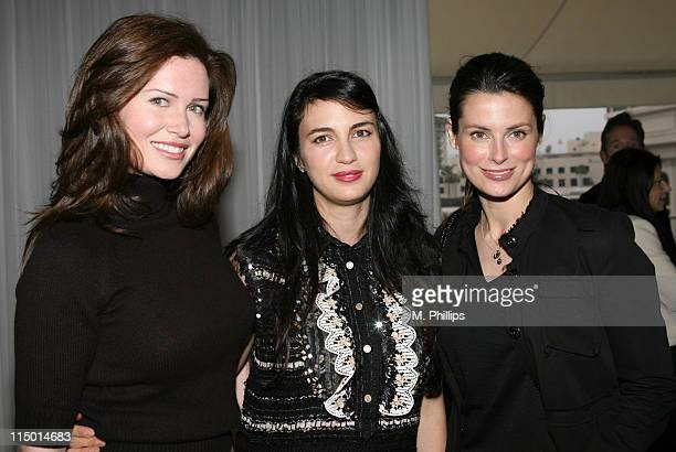 Karen Gordon Shiva Rose and Ryan Haddon during Chanel Hosts Party for Plum Sykes's New Book The Debutante Divorcee at Chanel in Beverly Hills...