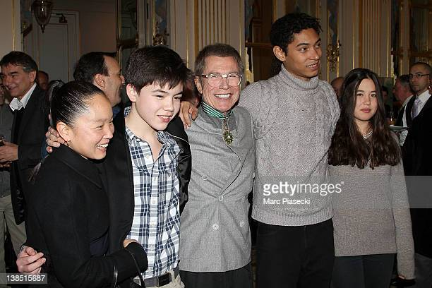Karen Goude Theo Goude JeanPaul Goude Paulo Goude and Lorelei Goude attend the 'Personalities Of Design And Photography Honored' ceremony at...