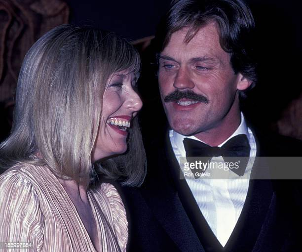 Karen Grassle and John Beck attend the party for 33rd Annual Primetime Emmy Awards on September 12 1981 at the Bonaventure Hotel in Los Angeles...
