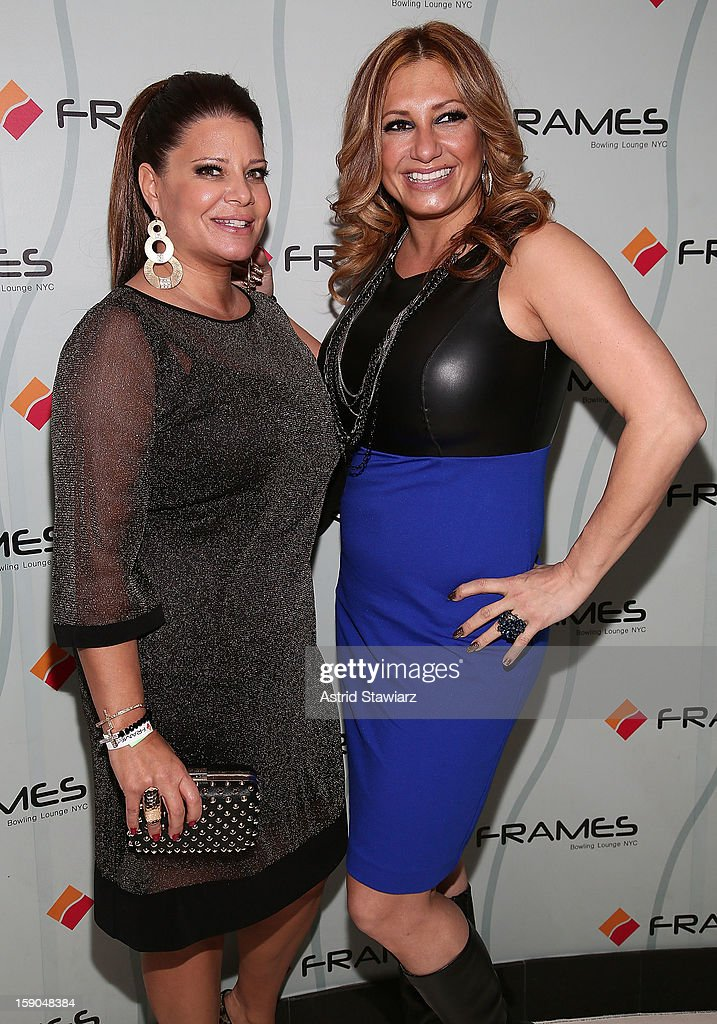 Karen Gravano and Love Majewski attend VH1's 'Mobwives' Season 3 Premiere Viewing Party at Frames Bowling Lounge on January 6, 2013 in New York City.