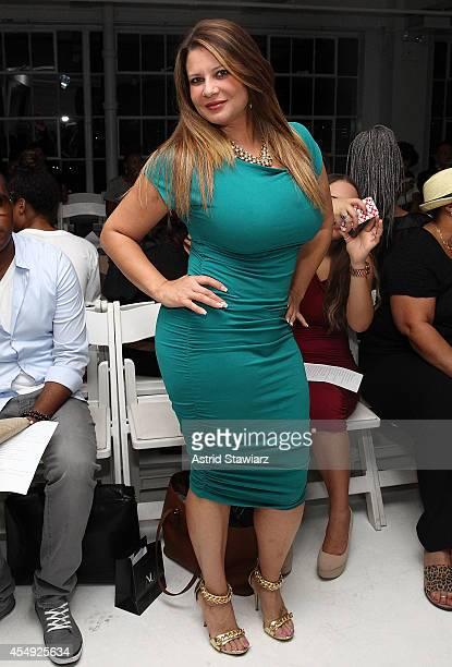 Karen Gravano attends Nina Athanasiou Spring 2015 fashion show at MercedesBenz Fashion Week Spring 2015 held at The Designer's Loft on September 7...