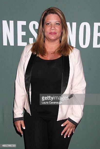 Karen Gravano attends the Mob Wives visit Barnes Noble Tribeca at Barnes Noble Tribeca on March 5 2015 in New York City