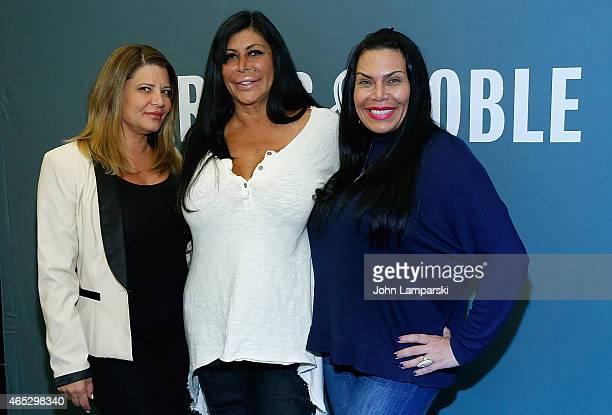 Karen Gravano Big Ang Raiola and Renee Graziano of the Mob Wives Visit Barnes Noble Tribeca at Barnes Noble Tribeca on March 5 2015 in New York City