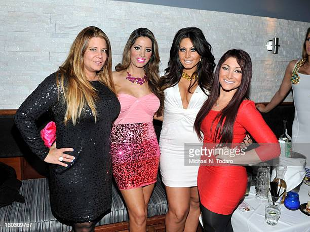 Karen Gravano Elizabeth Vashisht Tracy Dimarco and Deena Cortese attend Jerseylicious Season 5 Premiere Party at Midtown Sutton on January 28 2013 in...