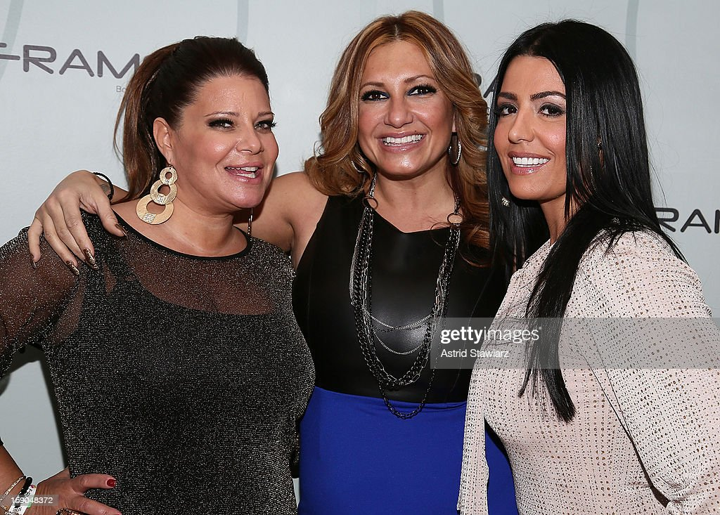 Karen Gravano, Love Majewski and Ramona Rizzo attend VH1's 'Mobwives' Season 3 Premiere Viewing Party at Frames Bowling Lounge on January 6, 2013 in New York City.