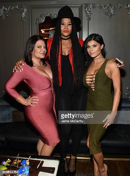 Karen Gravano Margeaux Simms and Marissa Jade attend The Season 6 Premiere of Marriage Boot Camp Reality Stars at Up Down on September 22 2016 in New...
