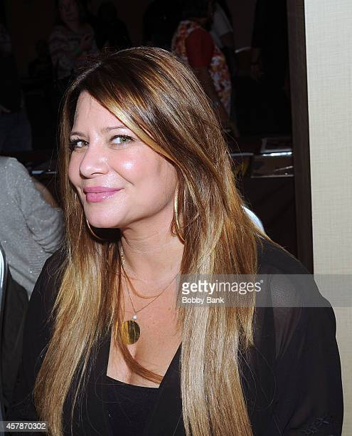 Karen Gravano of Mob Wives attends Day 2 of the Chiller Theatre Expo at Sheraton Parsippany Hotel on October 25 2014 in Parsippany New Jersey