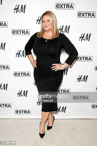 Karen Gravano of Mob Wives visits Extra at their New York studios at HM in Times Square on March 8 2016 in New York City