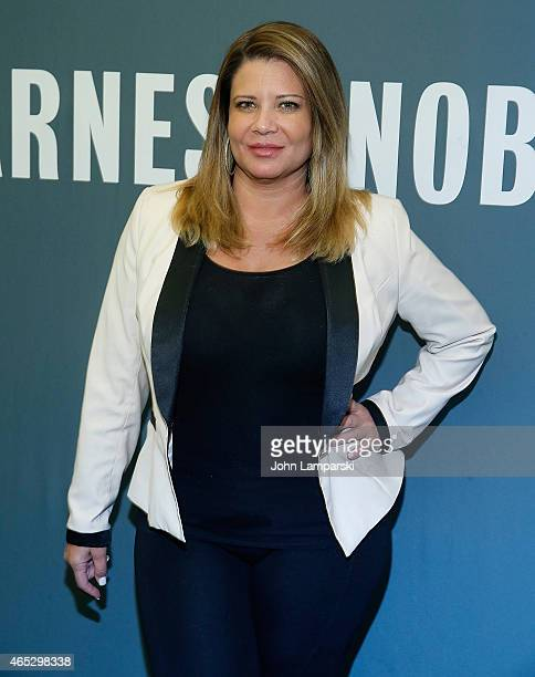 Karen Gravano of the Mob Wives visits Barnes Noble Tribeca at Barnes Noble Tribeca on March 5 2015 in New York City