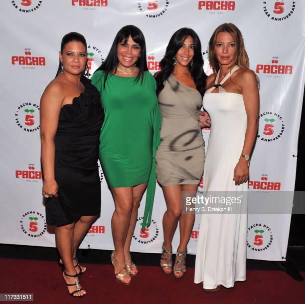 Karen Gravano Renee Graziano Carla Facciolo and Drita D'avanzo attends the Mob Wives season finale party at Pacha on June 25 2011 in New York City