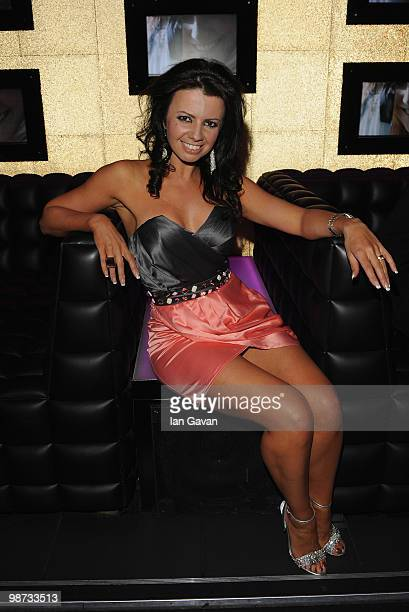 Karen Hardy attends the launch party for the Pixie Lott Pixie Loves Lipsy fashion collection at Movida on April 28 2010 in London England