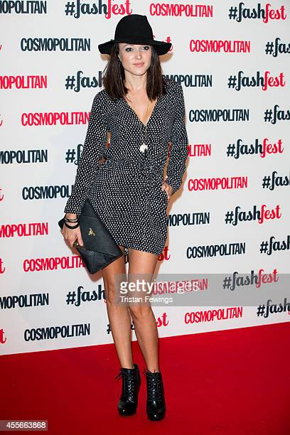 Karen Hassan attends the Cosmopolitan #FashFest event at Battersea Evolution on September 18 2014 in London England