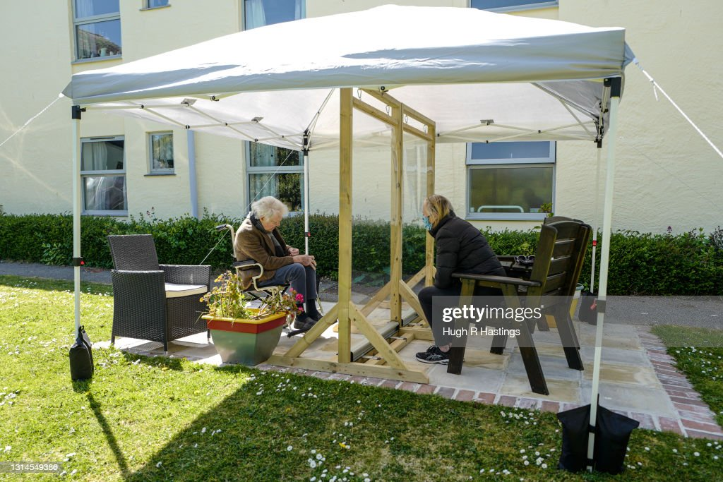 Care Homes Open Up To Visitors As Lockdown Measures Ease : News Photo