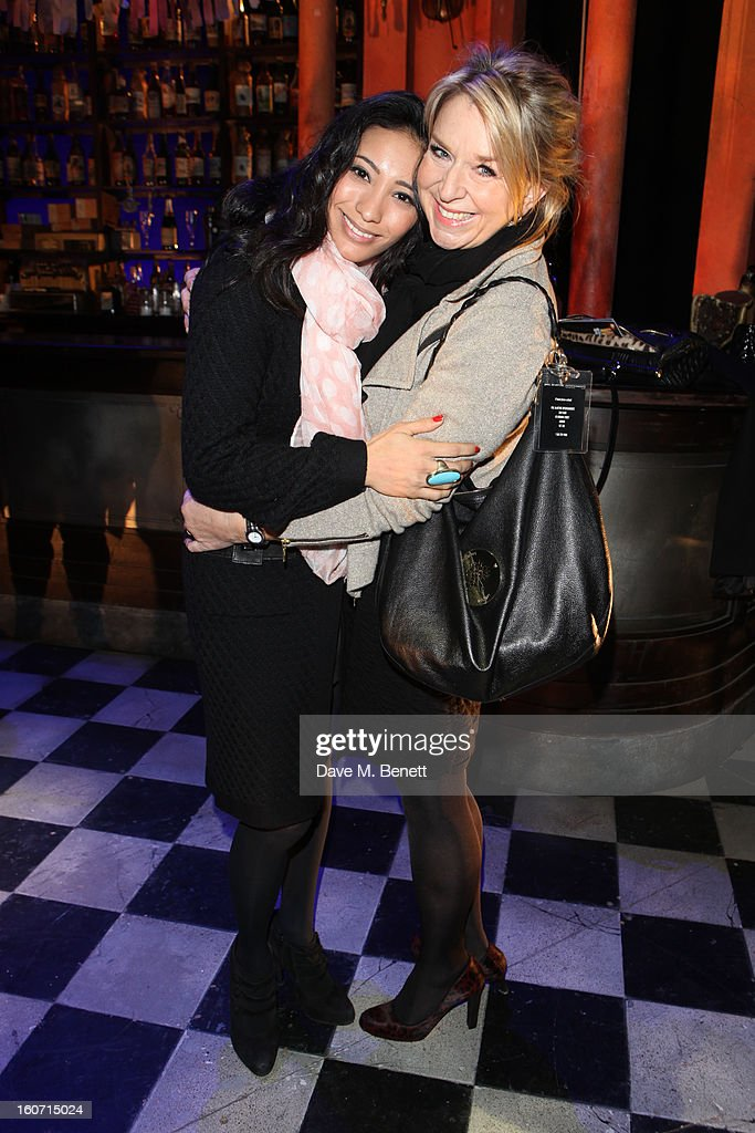 Karen Hauer and Fern Britton attend opening night of 'Midnight Tango' at the Phoenix Theatre on February 4, 2013 in London England.