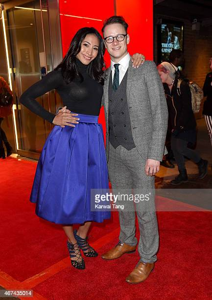 Karen Hauer and Kevin Clifton attend the VIP night for the Northern Ballets rendition of 'The Great Gatsby' at Sadlers Wells Theatre on March 24 2015...