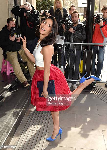 Karen Hauer attends the TRIC Awards at Grosvenor House Hotel on March 10 2015 in London England