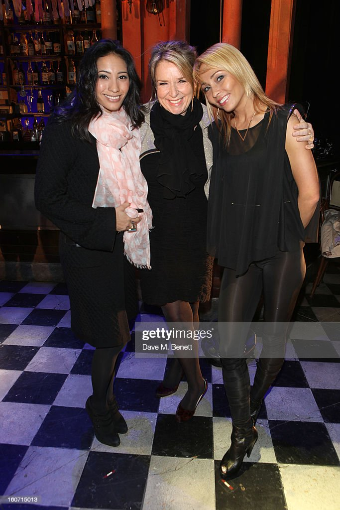 Karen Hauer, Fern Britton and Ola Jordan attend opening night of 'Midnight Tango' at the Phoenix Theatre on February 4, 2013 in London England.