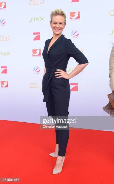 Karen Heinrichs attends ProSiebenSat1 new programmes press conference at Hamburg Cruise Center Altona on June 26 2013 in Hamburg Germany