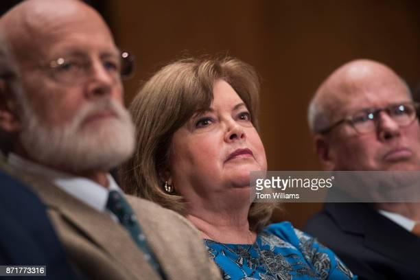 Karen Hernest Kelly the wife of White House Chief of Staff John F Kelly attends the Senate Homeland Security and Governmental Affairs Committee...