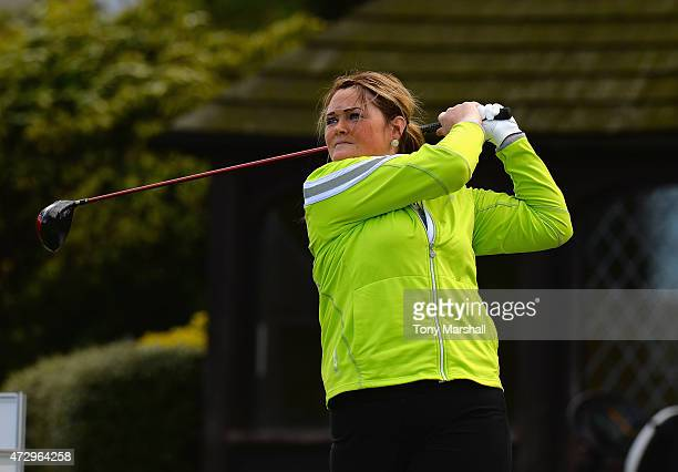 Karen Heywood of Brookdale Golf Club plays her first shot on the 1st tee during the Titleist and FootJoy Women's PGA Professional Championship...