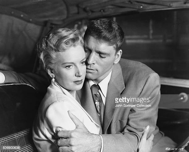 Karen Holmes and Sergeant Warden get a little closer in a scene from the 1953 film From Here to Eternity