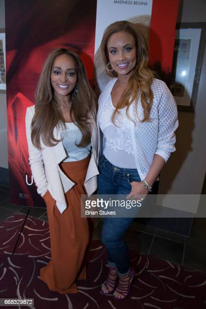 Karen Huger and Gizelle Bryant attends Unforgettable Screening at AMC Mazza Gallerie 14 on April 12 2017 in Washington DC