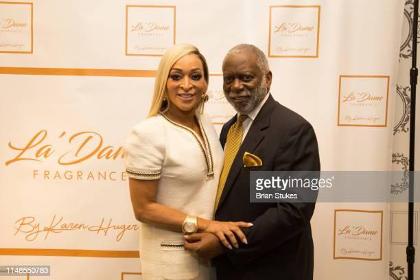 Karen Huger and Ray Huger attend La'Dame Fragrance Popup at Bloomingdales on May 11 2019 in Tysons Corner Virginia