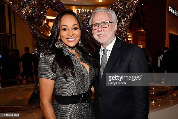 Karen Huger and Wolf Blitzer attend the MGM National Harbor Grand Opening Gala on December 8 2016 in National Harbor Maryland