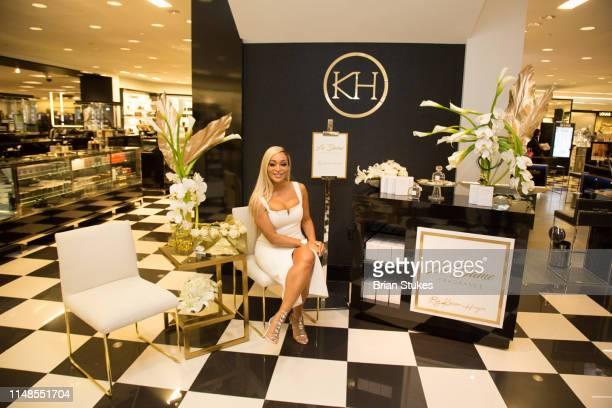Karen Huger attends La'Dame Fragrance Popup at Bloomingdales on May 11 2019 in Tysons Corner Virginia