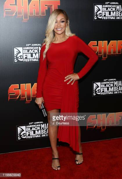 Karen Huger attends the premiere of Shaft during the 23rd Annual American Black Film Festival on June 12 2019 in Miami Florida