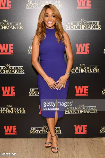 Karen Huger attends WE tv's Exclusive Premiere of Million Dollar Matchmaker Season 2 at the Whitby Hotel on August 2 2017 in New York City