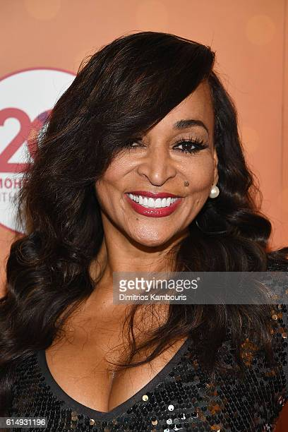 Karen Huger walks the red carpet before the Ballroom After Party with Chrissy Teigen and LL Cool J for Mohegan Sun's 20th Anniversary at Mohegan Sun...