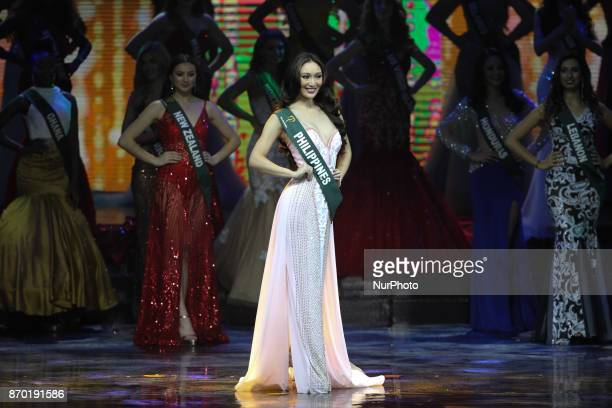 Karen Ibasco of the Philippines during the MIss Earth 2017 coronation night held at the Mall of Asia Arena in Pasay city south of Manila Philippines...