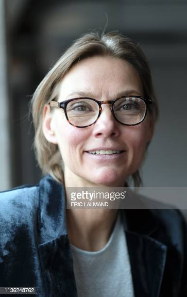 Karen Jensen of LITES pictured during a press conference with the presentation of the water filming studio by VLAIO Agentschap Innoveren en...